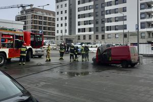 Kolejny płonący samochód w Olsztynie