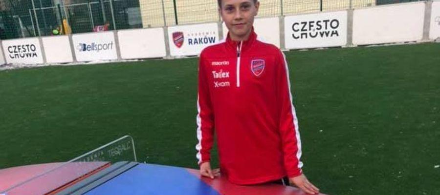 Borys Dmytryszyn, piłkarz AP Ostróda, jest testowany przez Raków Częstochowa