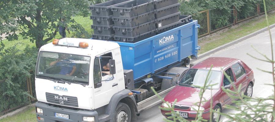 Koma odbiera śmieci w całym regionie