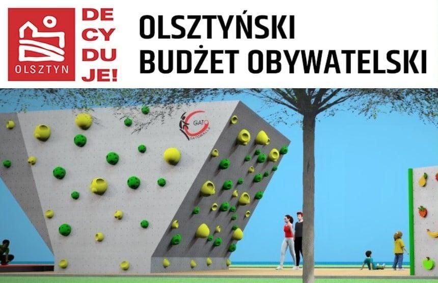 Bouldery w Parku Jakubowym. Projekt Klubu Wysokogórskiego w Olsztynie.