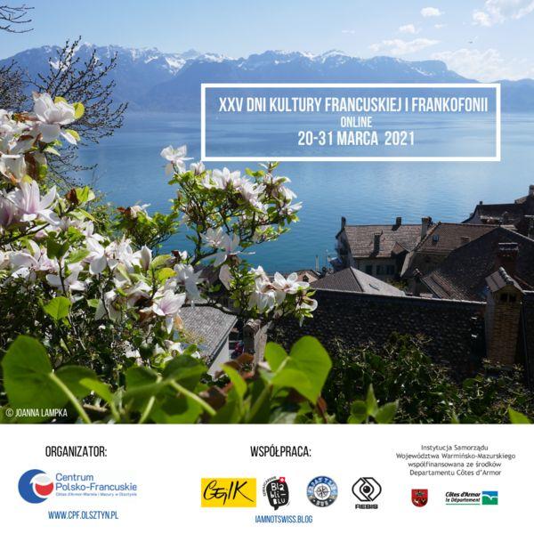 XXV Dni Kultury Francuskiej i Frankofonii na Warmii i Mazurach  20-31 marca 2021 - full image