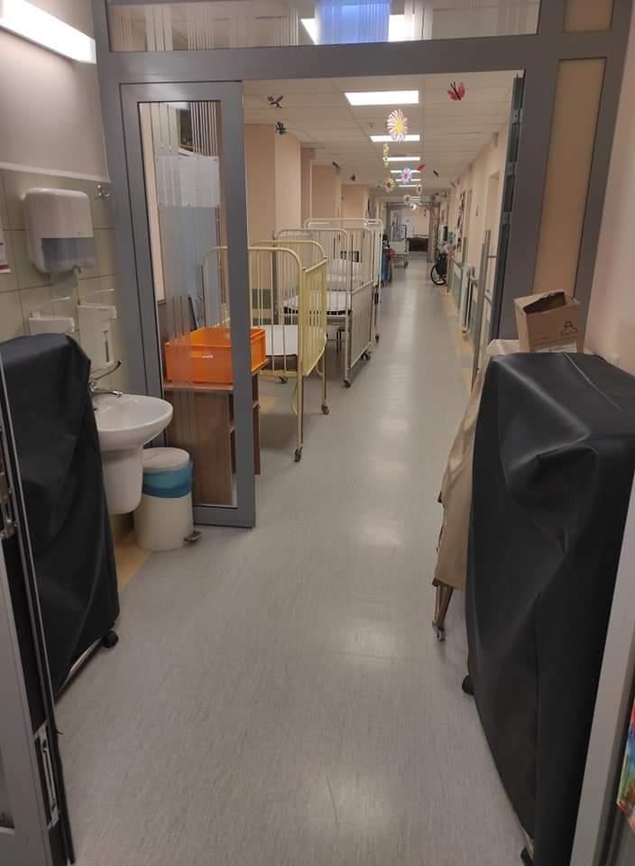Tak wygląda korytarz oddziału onkologicznego