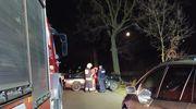 Pijany kierowca uderzył w drzewo. Pasażer trafił do szpitala