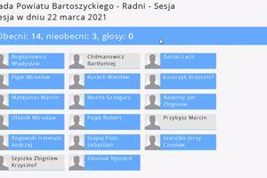 Radni Powiatu Bartoszyckiego przyjęli wszystkie planowane uchwały