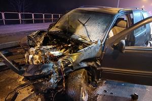 """Wypadek na """"obwodnicy"""" Iławy [foto]. 22-letni kierowca nie ma prawa jazdy!"""