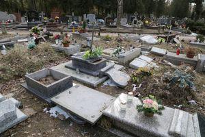 Zniszczono ponad 200 nagrobków. Policja prosi poszkodowanych o kontakt