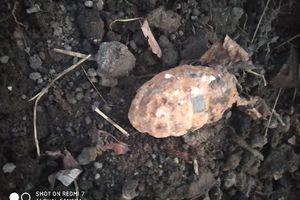 Granat ręczny znaleziony na budowie