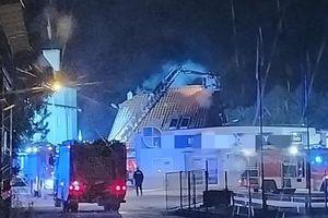 Pożar budynku przy Zamkowej