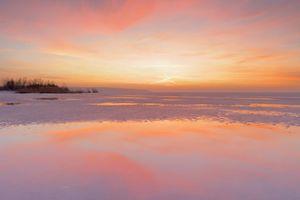 Zachód słońca na plaży we Fromborku