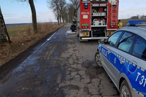 Pijany mieszkaniec Sępopola dzięki pomocy wydostał się z płonącego auta