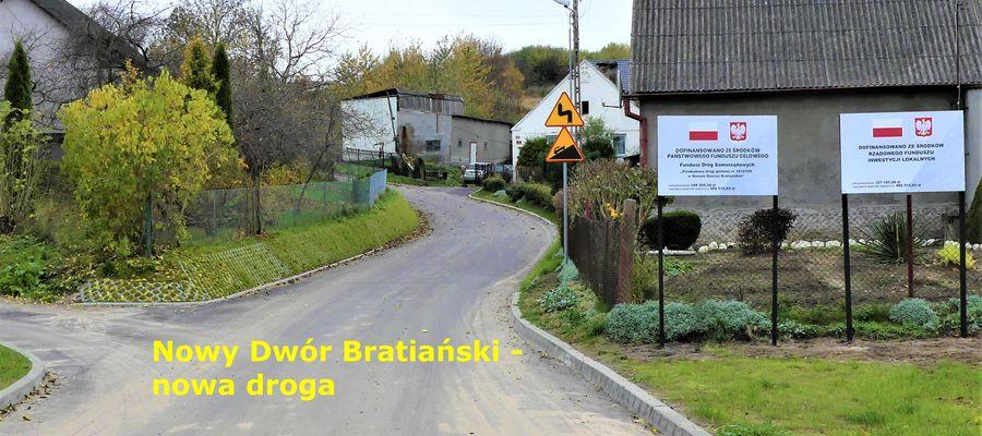 Droga w Nowym Dworze Bratiańskim
