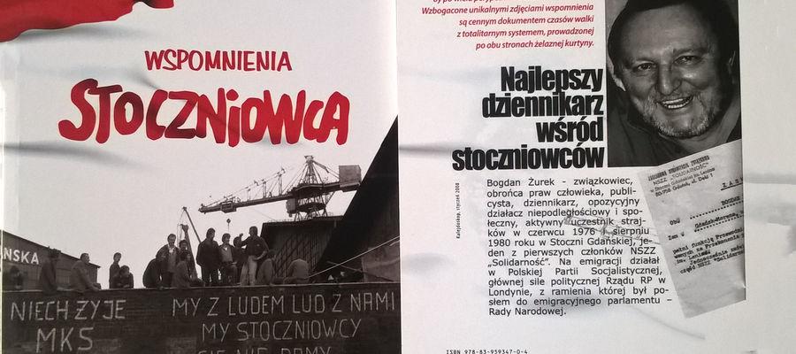 Książka Bogdana Żurka, stoczniowca z Bartoszyc.