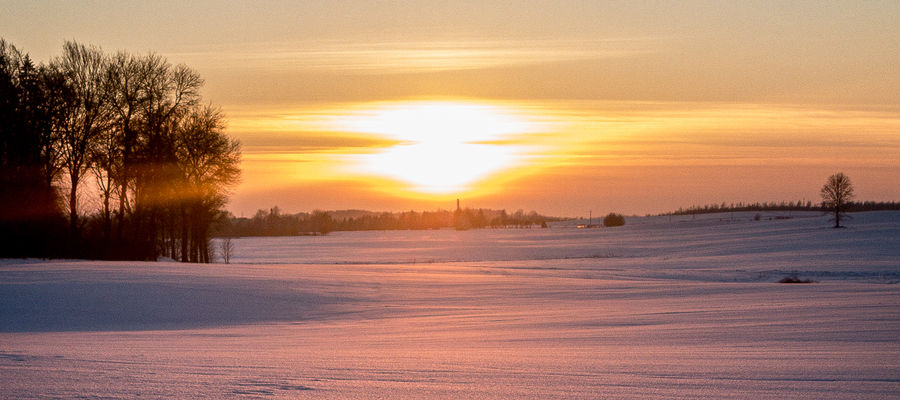 E-gazeta za zdjęcie. Zimowy zachód słońca [ZDJĘCIA]