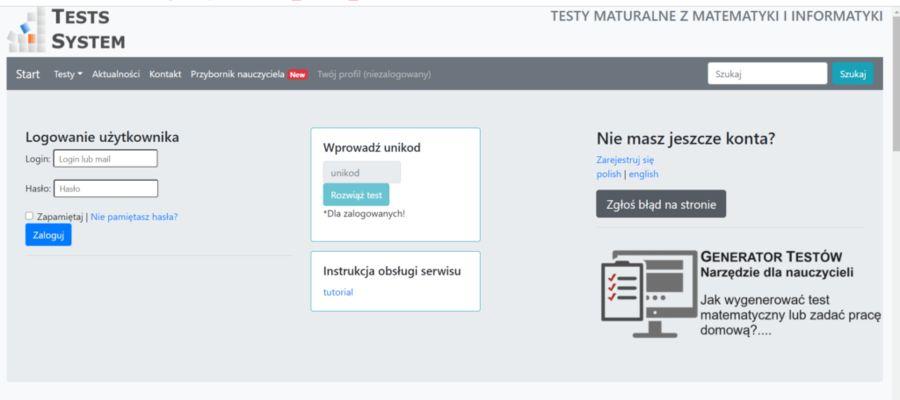 Próbny egzamin maturalny z matematyki w działdowskim ZS Nr 1 na własnej platformie i teście!