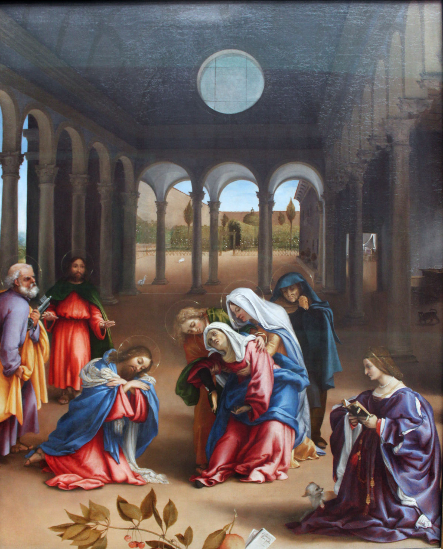 "Lorenzo Lotto, ""Pożegnanie Chrystusa z Matką"""