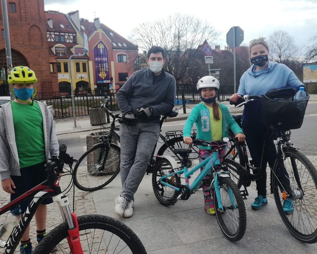 Rodzina Bałdygów na swojej drugiej w tym roku rowerowej wyprawie