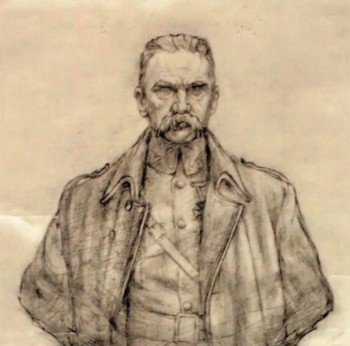 Popiersie Piłsudskiego zaprojektował Stanisław Szwechowicz