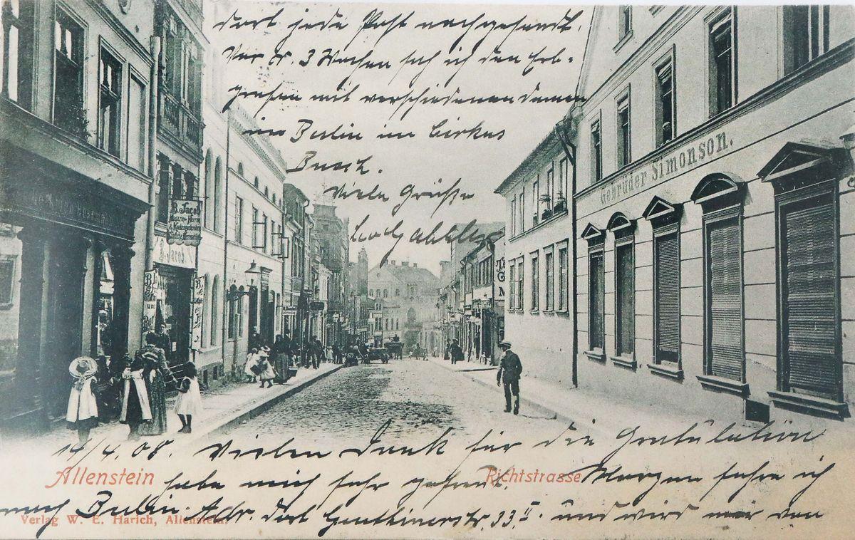 Ulica Prosta ok. 1900 roku