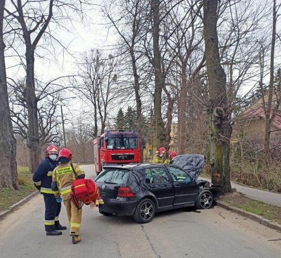 Wypadek przy ulicy Kolejowej w Lidzbarku Warmińskim