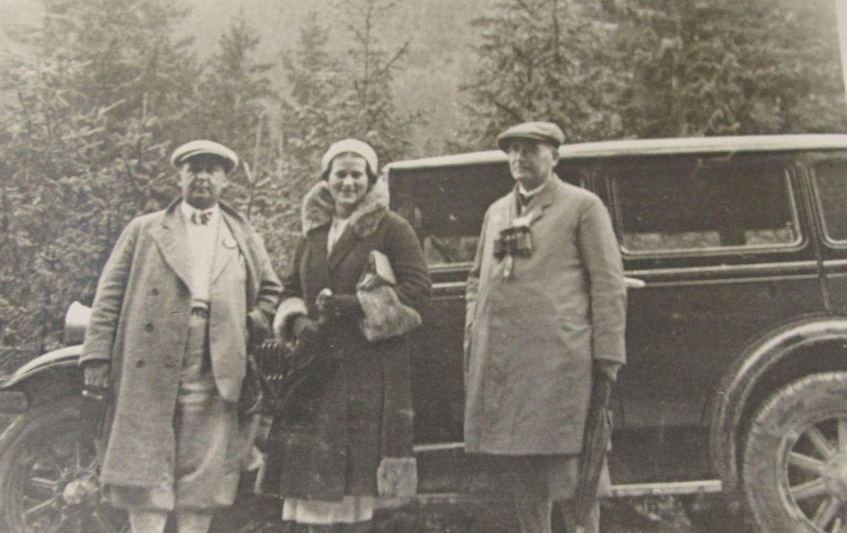 Seweryn Pieniężny (z lewej), z prawej stryj Władysław Pieniężny, Zakopane 1931 r..