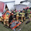 Tragedia na drodze Barczewo-Olsztyn. Nie żyją dwie osoby [ZDJĘCIA, VIDEO]