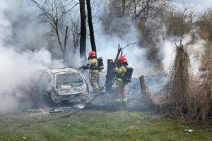 Przy Żeromskiego palił się samochód