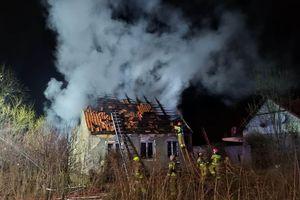 Palił się budynek przy ul. Rybackiej