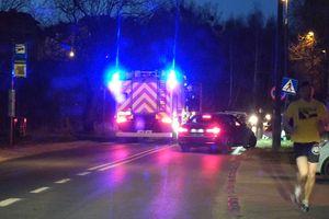 Kolizja auta z motocyklem i potrącona nastolatka. Niebezpieczne zdarzenia na olsztyńskich ulicach