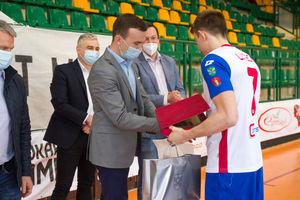 Zawodnicy KS Constract Lubawa uhonorowani przez władze Powiatu Iławskiego za historyczny awans do Mistrzostw Europy w Futsalu