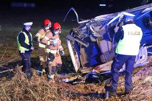 Dwoje nastolatków zginęło w wypadku pod Barczewkiem [ZDJĘCIA, VIDEO]
