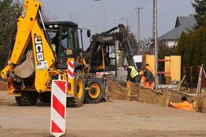Ulica Krasickiego w Działdowie jest remontowana