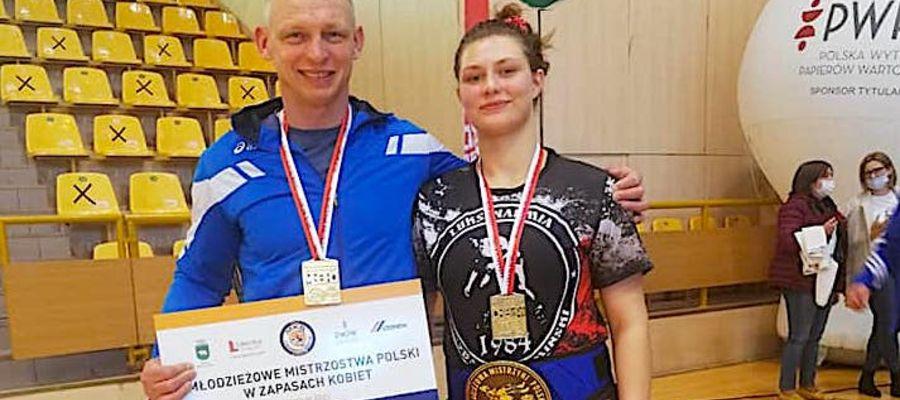 Ewelina Kaczyńska z trenerem Arturem Wanginem