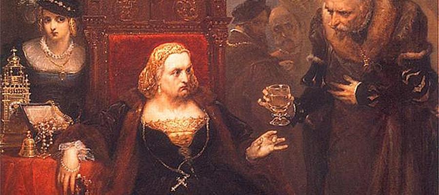 Otrucie Królowej Bony - obraz autorstwa Jana Matejki