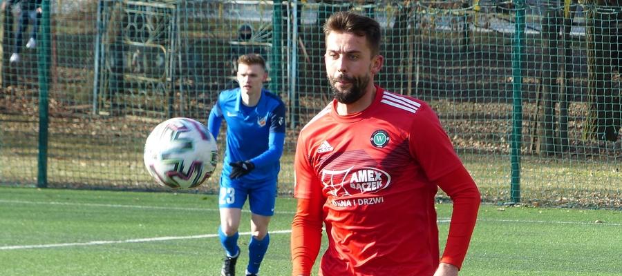 Gola na 0:1 w meczu Ruch - GKS zdobył Adrian Korzeniewski, boczny obrońca drużyny z Wikielca