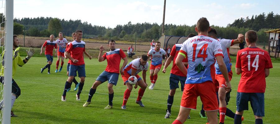 Dzisiaj we Frygnowie derby powiatu między Grunwaldem a Płomieniem, jesienią zespół z Turznicy wygrał 5:0