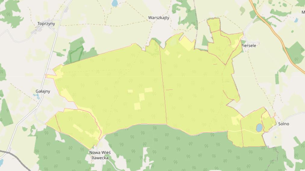 Obszary, w których możesz nocować na terenie Nadleśnictwa Górowo Iławeckie