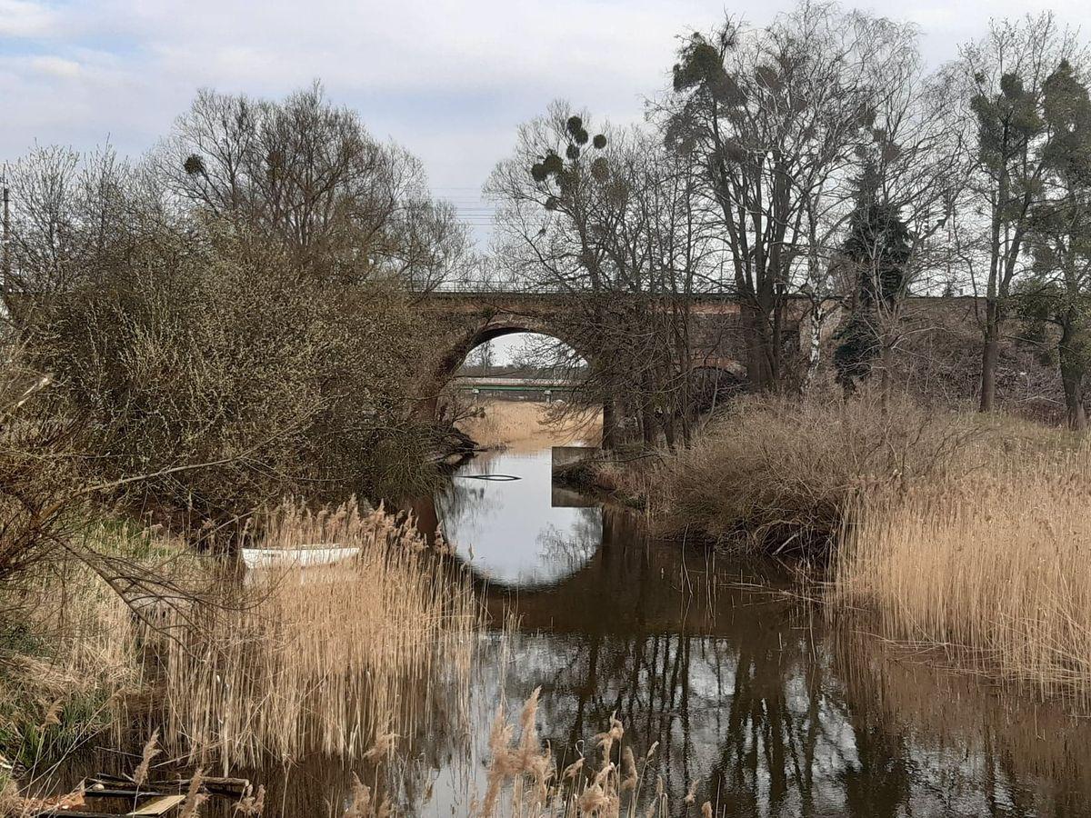 Iława, widok na most kolejowy