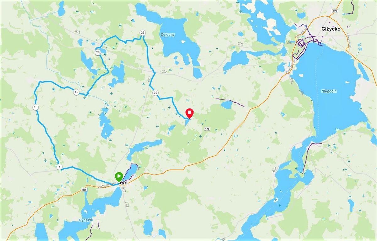 33 kilometrowa trasa - litera