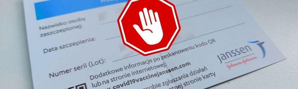 Nie chwal się szczepieniem w internecie