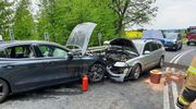 Wypadek w pobliżu Zalca. Dwie osoby trafiły do szpitala