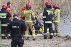 Klebark Wielki. Strażacy wyłowili ciało z Jeziora Klebarskiego