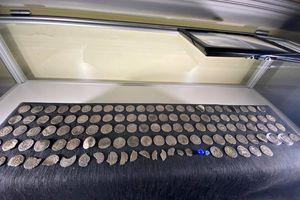 Pokaz skarbu monet karolińskich i wystawa figurek historycznych