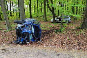 Wypadek na drodze wylotowej z Olsztyna [WIDEO]
