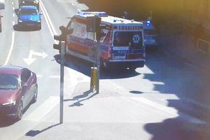 Potrącenie na rondzie Bema w Olsztynie. Prowadząca auto była kompletnie pijana