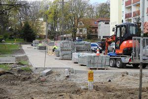 Trwa remont ulic w centrum Olecka