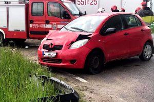 25-letni kierowca Toyoty nie zachował niezbędnej odległości