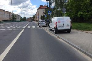 Wypadek na al. Warszawskiej w Olsztynie, jedna osoba trafiła do szpitala