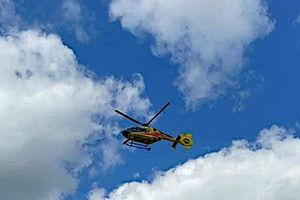 Helikopter zabrał go do szpitala