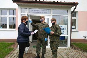 Żołnierze WOT wspierają nowy punkt szczepień w Olecku