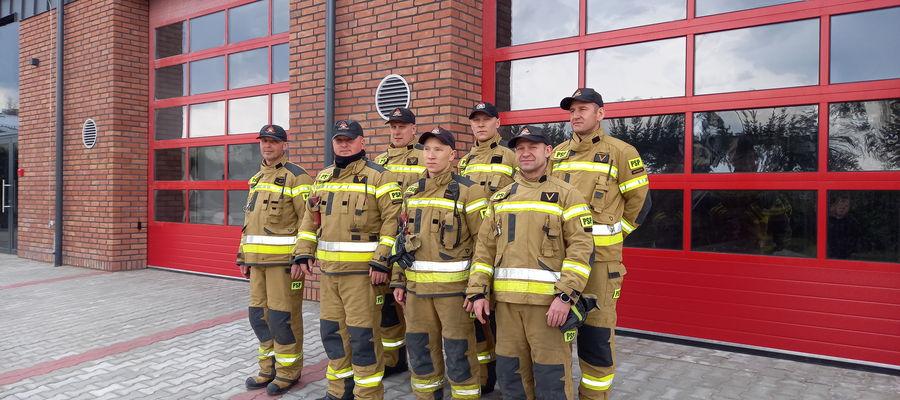 Strażacy z Komendy Powiatowej Państwowej Straży Pożarnej w Bartoszycach